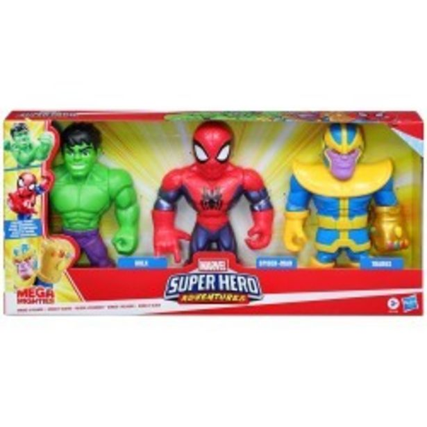 Oferta de  Mega Mighties Heroes Pack 3 figuras hasbro...  por 27,99€