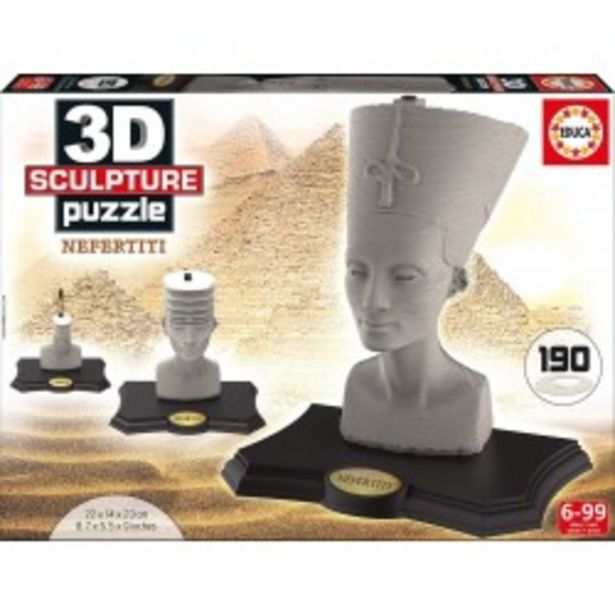 Oferta de  Puzzle 3D Escultura Nefertiti educa (16966)  por 14,99€