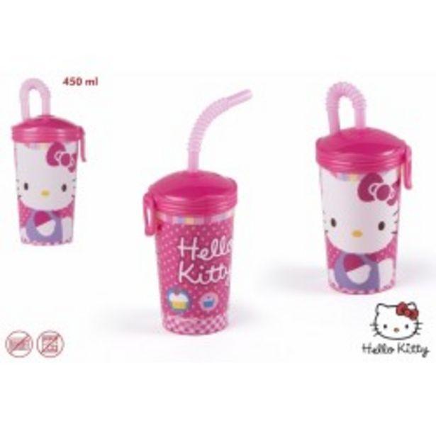 Oferta de  Hello kitty vaso plastico 450 ml  por 2,99€