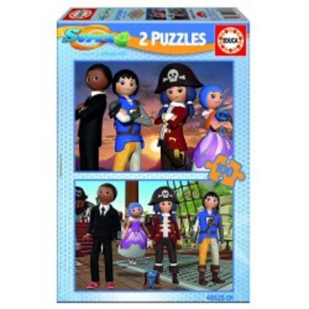 Oferta de  Puzzle Super 4 - 2x100 educa (17280)  por 3,99€