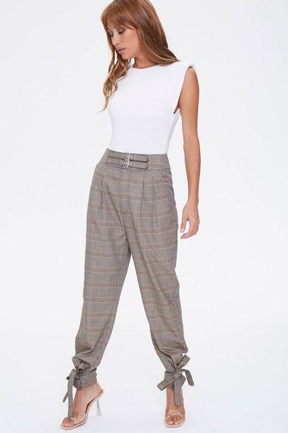Oferta de Plaid Ankle-Tie Pants por 25€