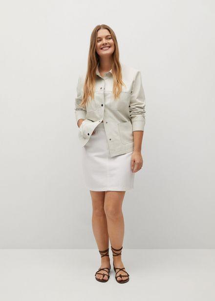 Oferta de Falda denim cintura elástica por 15,99€