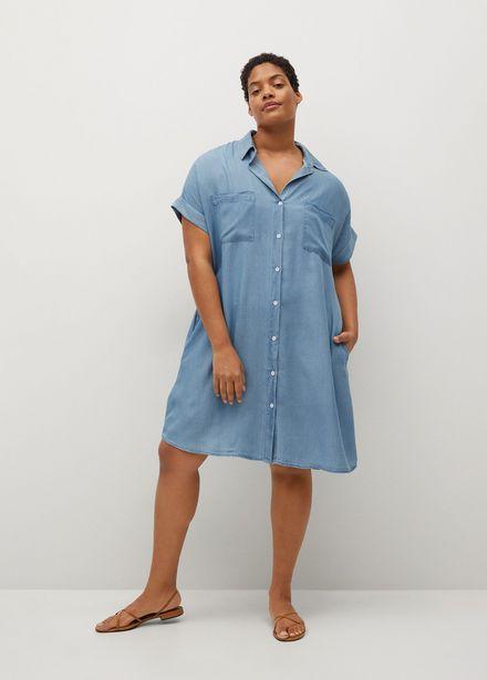 Oferta de Vestido denim lyocell por 29,99€