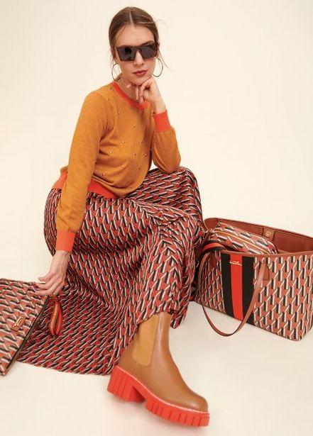 Oferta de Falda plisada estampado por 89,95€
