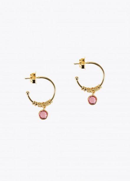 Oferta de Pendientes cristal rosa por 14,95€