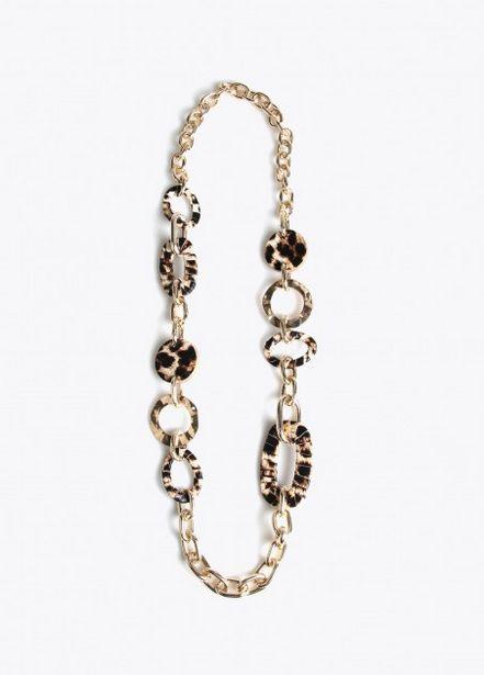 Oferta de Collar eslabones dorados y por 16,95€