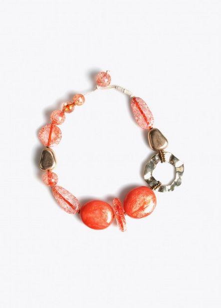 Oferta de Collar piedras  naranja por 16,95€
