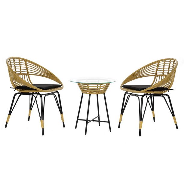 Oferta de Set de jardín o terraza MB 178987 con mesa de centro por 254,5€