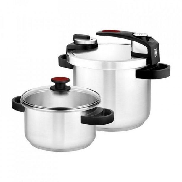 Oferta de Set dos ollas rápidas a presión Tekna 4+7 litros BRA A185605 por 109€