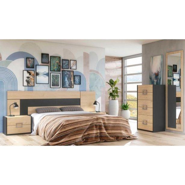 Oferta de Dormitorio de matrimonio modelo DIANA Jackson Grafito por 415,2€