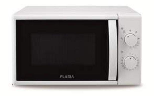 Oferta de Microondas Flama 1884FL700W (Grill 1000W), 20L, 5 Programas, Blanco por 54,9€