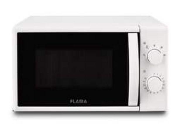 Oferta de Microondas Flama 1824FL700W, 20 Litros, 5 Potencias, Temporizador, Blanco por 59€