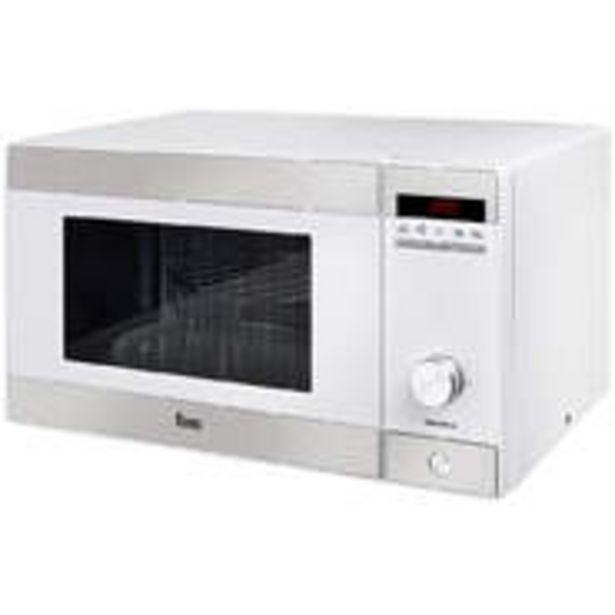 Oferta de Microondas Teka MWE230G Blanco800W + Grill, 23 Litros, 5 Potencias, Electrónico, 8 Menús por 89,9€