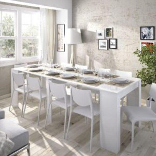 Oferta de Mesa Nantes extensible blanco brillo por 227€