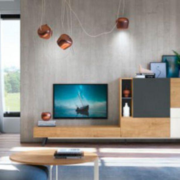 Oferta de Muebles de salón de estilo nórdico en roble nórdico, blanco y grafito. por 1196€