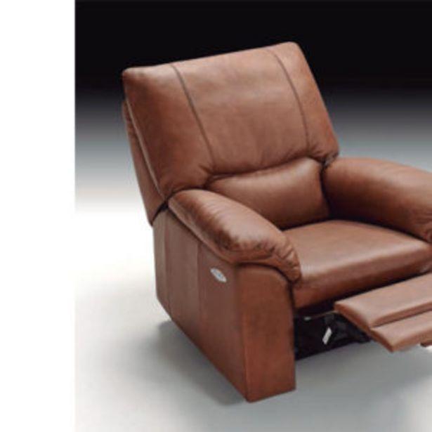 Oferta de Sillón relax con estructura de madera y tapizado con piel espesorada por 999€