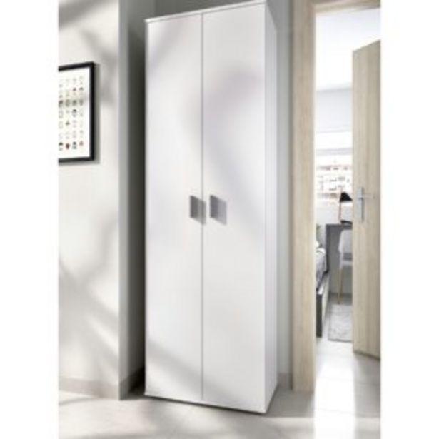 Oferta de Armario multiusos Granada seis estantes+ dos puertas blanco por 107€