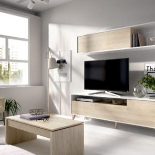 Oferta de Salón Lyon compacto blanco brillo/natural por 188€