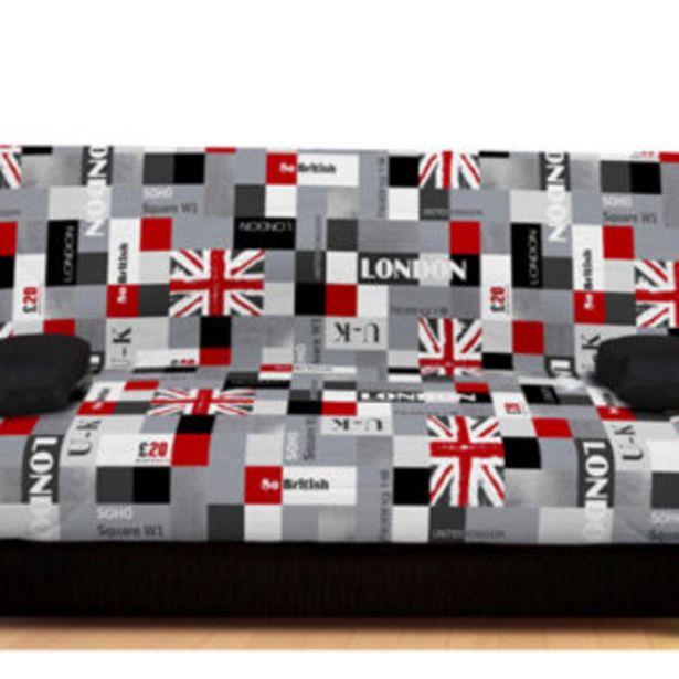 Oferta de Sofá cama 3 plazas con 20 lamas, goma de 20 kg y edredón de 320 gr. por 239€