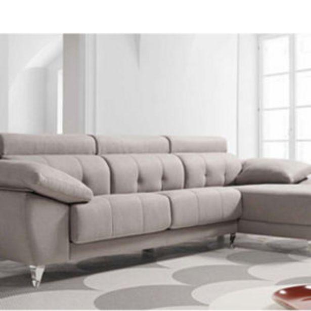 Oferta de Sofá chaise longue con asientos en goma de 32 kg de 340x110x100 cms. por 1670€