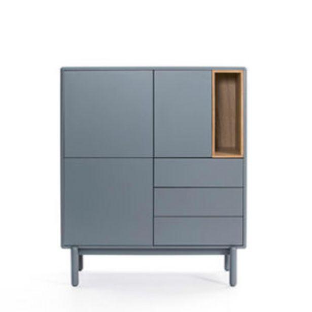 Oferta de Aparador de estilo moderno de tres puertas gris por 470€