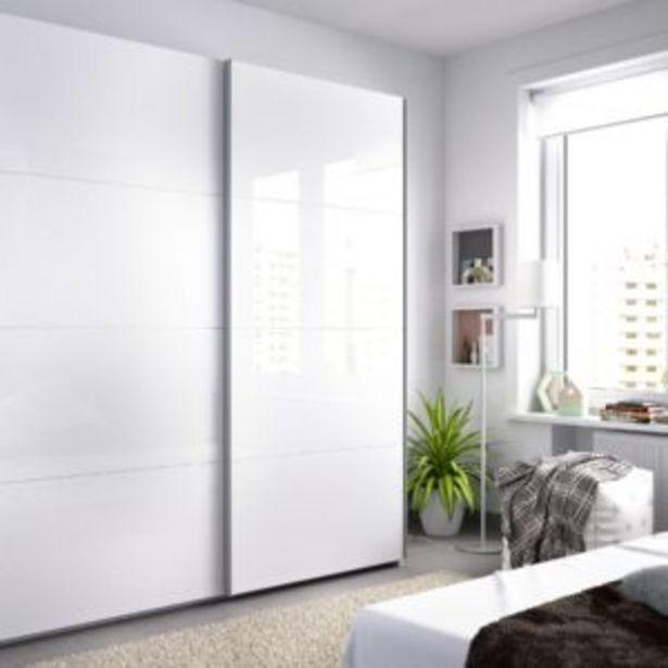 Oferta de Armario Tokyo dos puertas correderas blanco brillo por 321€