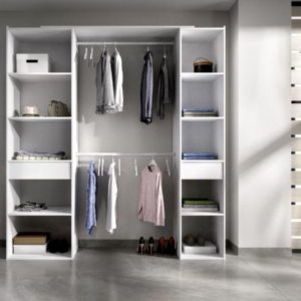 Oferta de Kit vestidor Dubái dos cajones blanco por 235€