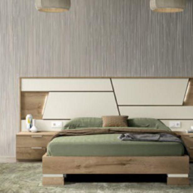Oferta de Moderno dormitorio de matrimonio en Roble denver y Arena poro por 923€