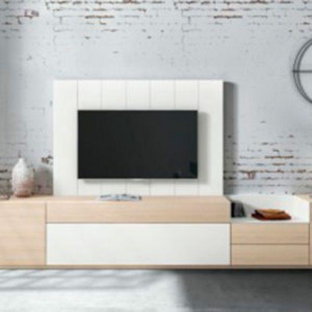 Oferta de Muebles de salón de estilo nórdico en roble natural y  blanco por 1294€