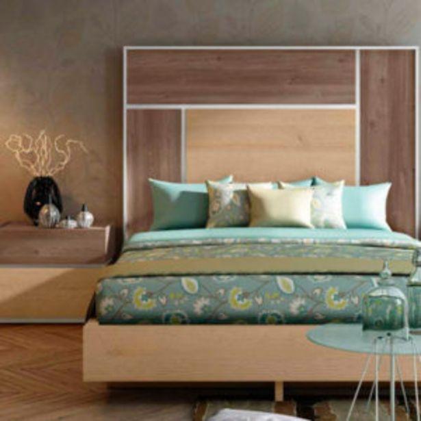 Oferta de Dormitorio moderno de matrimonio en nordiko, roble pekín y blanco por 1150€