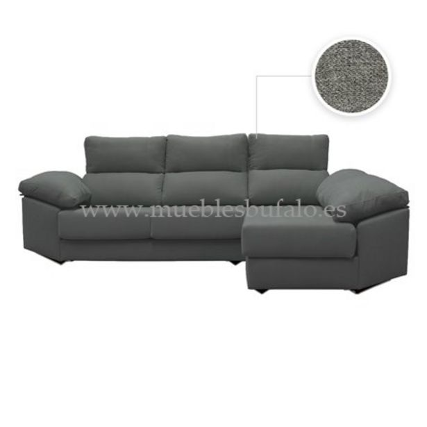 Oferta de Sofá chaise longue Genova 284x170 Derecho Celia 18 por 899€