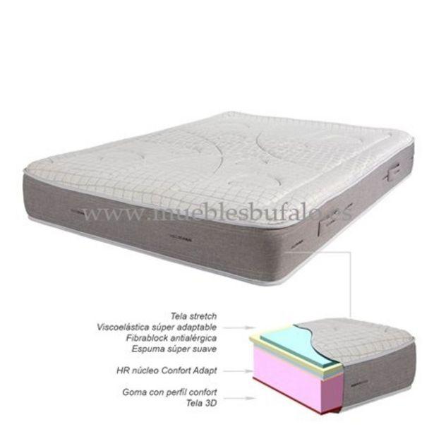 Oferta de Colchón de espuma HR viscoelástico Titanium 135x190 por 345€