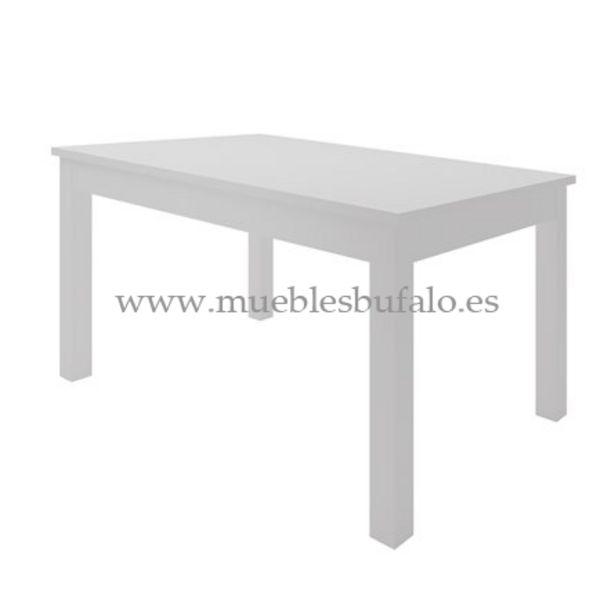 Oferta de Mesa de comedor extensible Viena Nieve, 140x90x73,5 cm por 179€