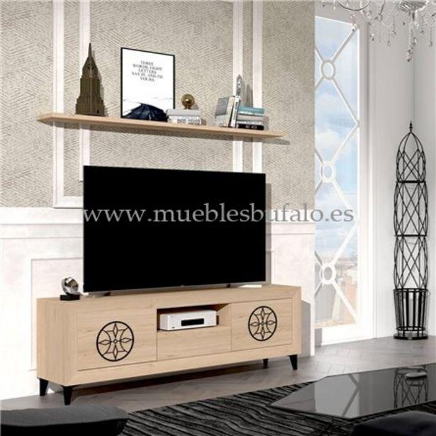 Oferta de Mueble de salón Viena 05, 180 cm Nieve Sin patas por 255€