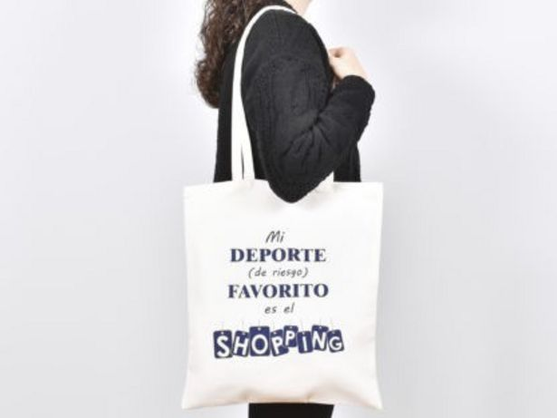 Oferta de BOLSA MI DEPORTE DE RIESGO FAVORITO ES EL SHOPPING 36X40CM por 3,49€