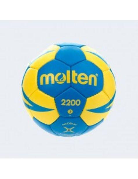 Oferta de BALÓN DE BALONMANO MOLTEN HX2200 AZUL Y AMARILLO por 24,99€