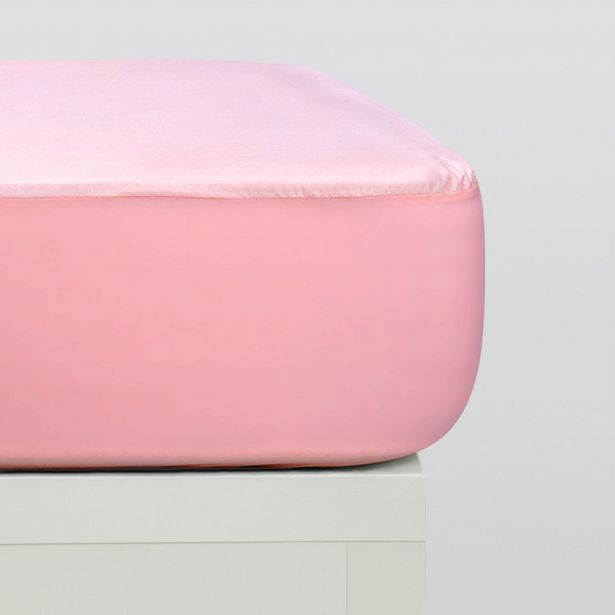 Oferta de Protector colchón tencel rosa por 14,95€
