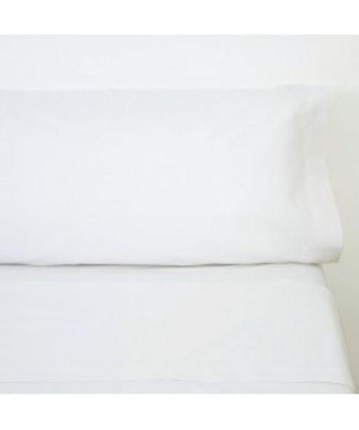 Oferta de Juego de sábanas algodón blanco por 26€