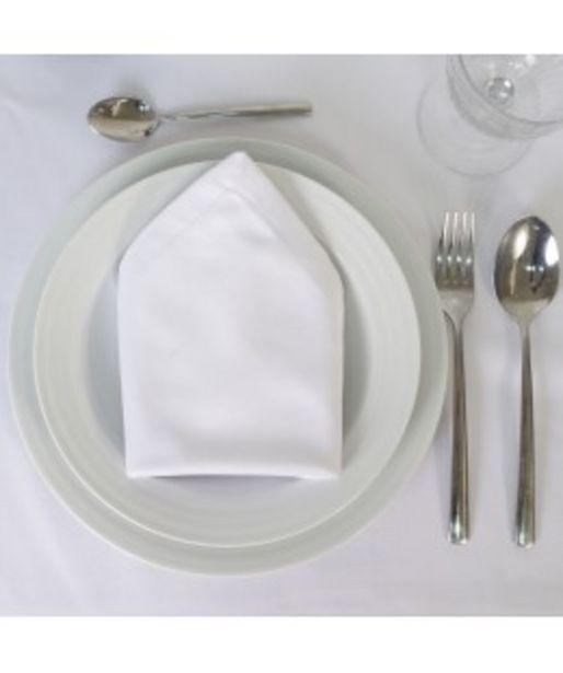 Oferta de Servilleta satén blanco hostelería por 1,7€