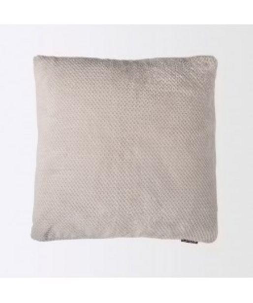 Oferta de Funda de cojín coralina popcorn gris por 4,9€