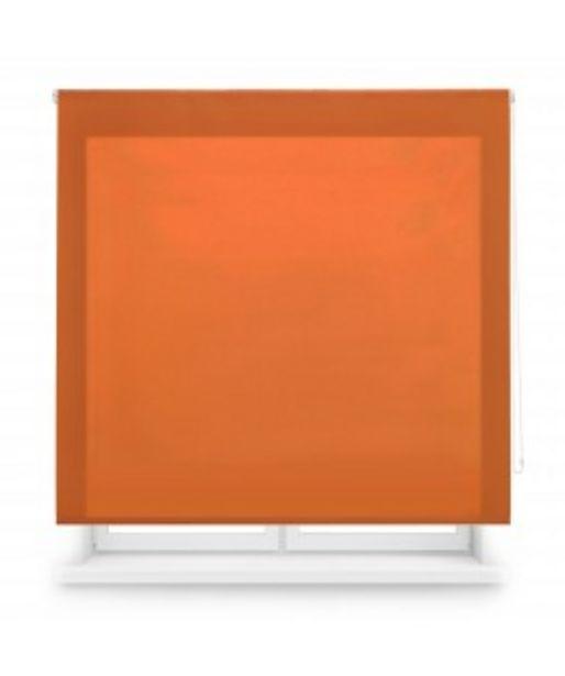Oferta de Enrollable tejido translúcido naranja por 10,95€