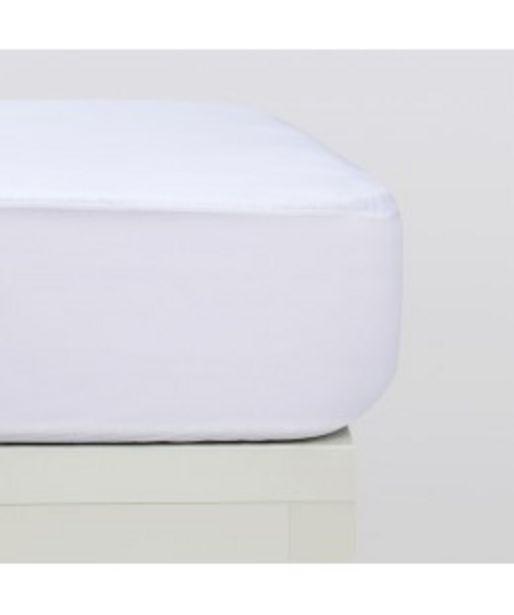 Oferta de Sábanas bajeras punto algodón orgánico blanco por 12,95€