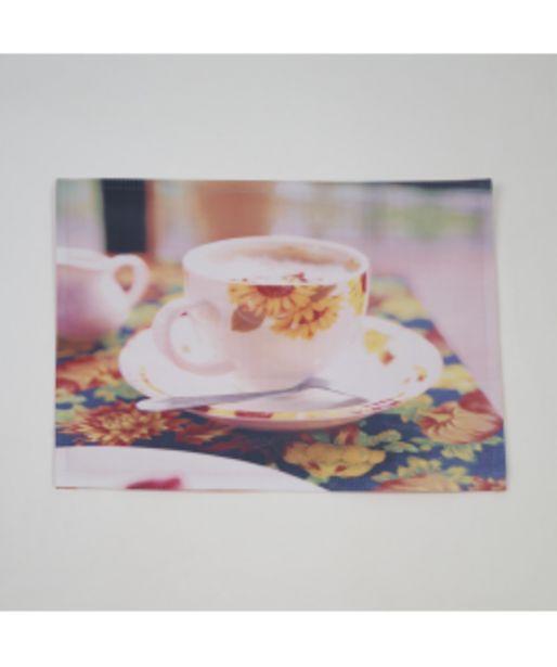 Oferta de Mantel individual foto taza girasol por 1,5€