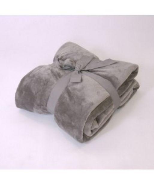 Oferta de Manta coralina alpes gris por 16€