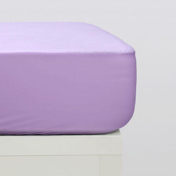 Oferta de Protector colchón tencel lila por 14,95€