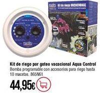 Oferta de Kit de riego por goteo por 44,95€