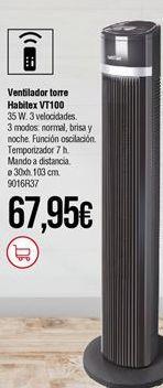 Oferta de Ventilador torre Habitex por 67,95€