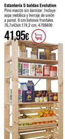 Oferta de Estanterías por 41,95€