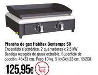 Oferta de Plancha de gas por 125,95€