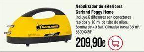 Oferta de Nebulizadores Garland por 209,9€